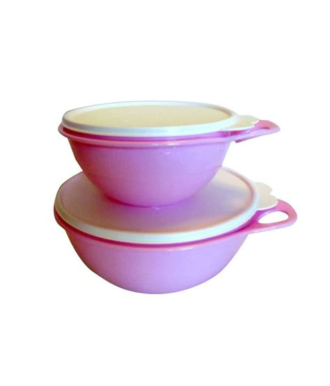Tupperware Clear Bowl Set Gold 5pcs tupperware pink and white mixing bowls set of 6 buy at best price in india snapdeal