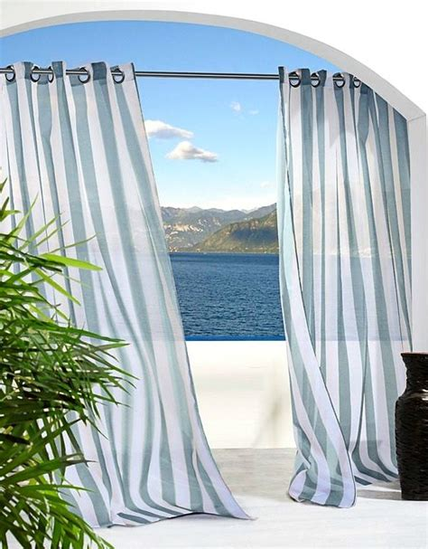 cabana drapes create a beach vacation feeling in your home with blue