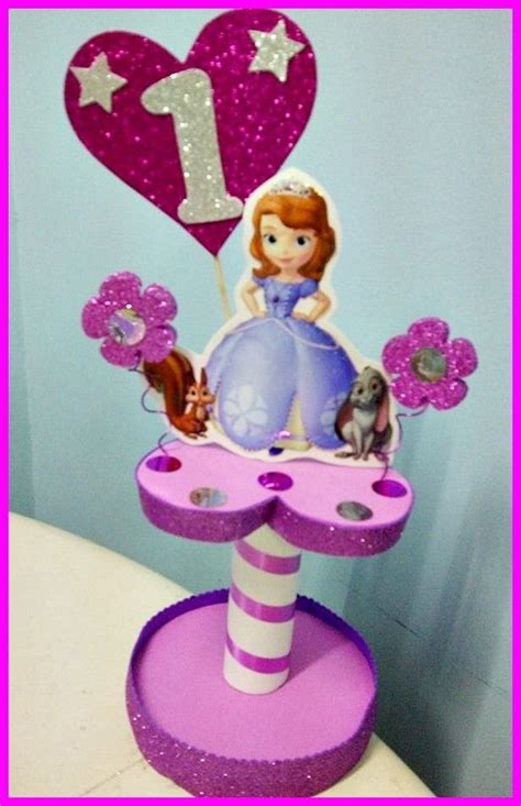 adornos de sofia princesa sofia decoracion centros de mesa buscar con