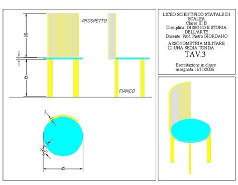 proiezione ortogonale sedia il disegno al liceo di scalea