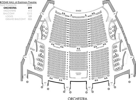 seating charts rochester philharmonic orchestra