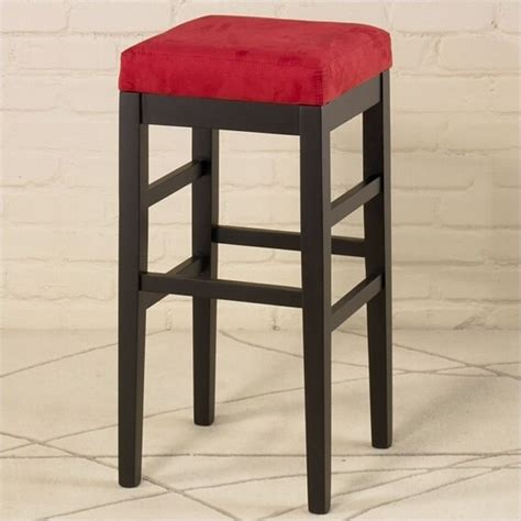 bar stools for high counter armen living sonata 26 quot square backless counter ebony