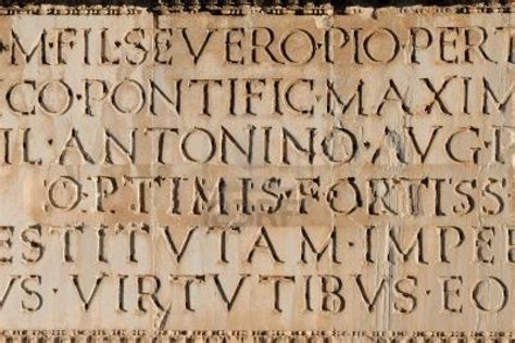 tattoo inscriptions latin close up of ancient roman latin inscription in stone