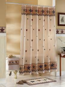 country primitive folk hearts fabric bathroom