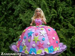 Learn To Decorate Cakes At Home lea s cooking princess barbi cake