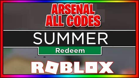 arsenal codes roblox youtube