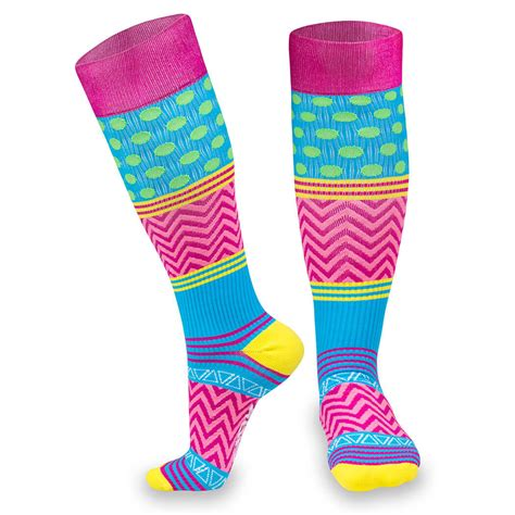 slippers for knee for color compression knee high socks for a run