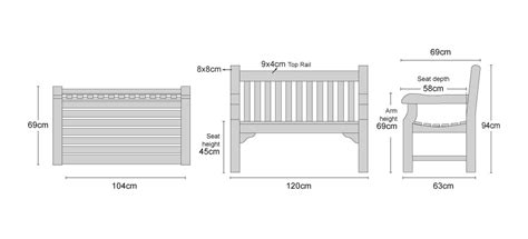 average bench size dimensions of park bench benches