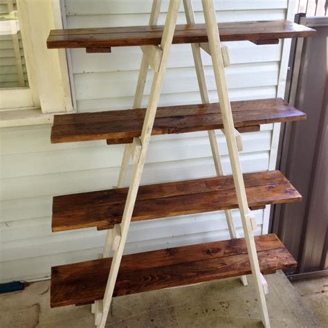 Diy Ladder Bookcase Image Result For Diy Ladder Shelves Woodworking Projects Shelves Pallets And