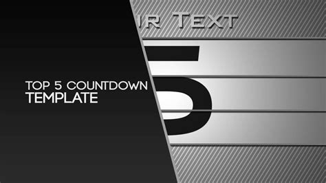 Free After Effects Template Top 5 Countdown By Nerow Youtube After Effects Countdown Template