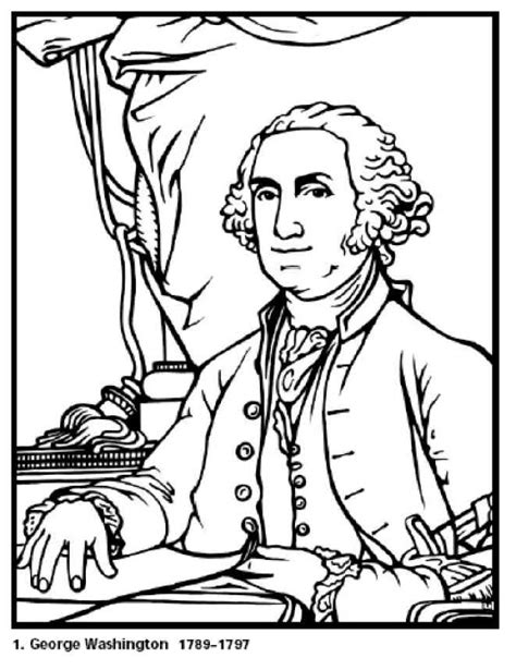 printable coloring pages us presidents free coloring pages for george washington our