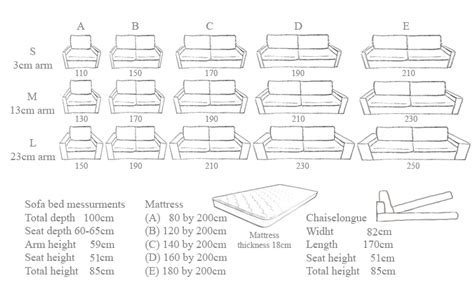 standard sofa bed dimensions comfy 18cm thick mattress sofa beds for everyday use