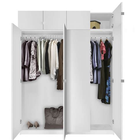 Free Standing Closet Alta Free Standing Wardrobe Package Contempo Space