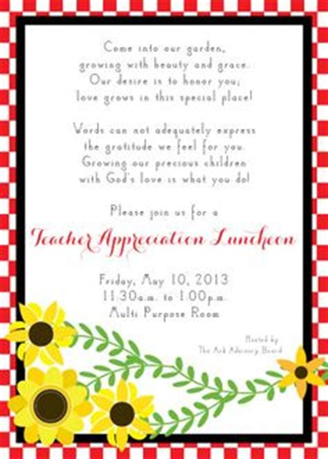 appreciation luncheon letter to parents 1000 images about appreciation week luncheon on