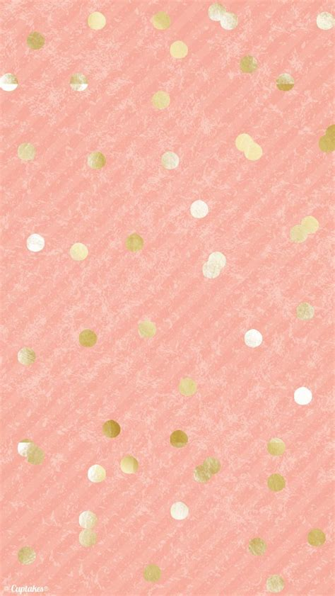 dot pattern screen lock for iphone coral peach gold confetti dots iphone background wallpaper