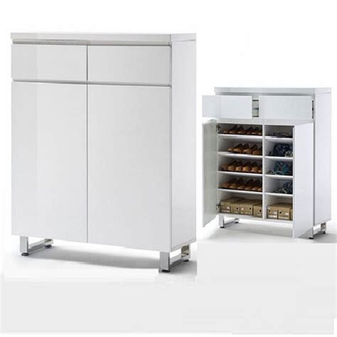 white high gloss shoe storage sydney shoe storage cabinet in high gloss white with