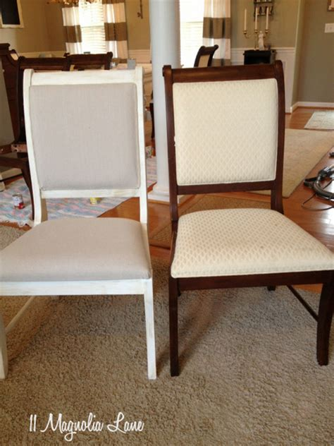 hometalk dining room table chairs painted white