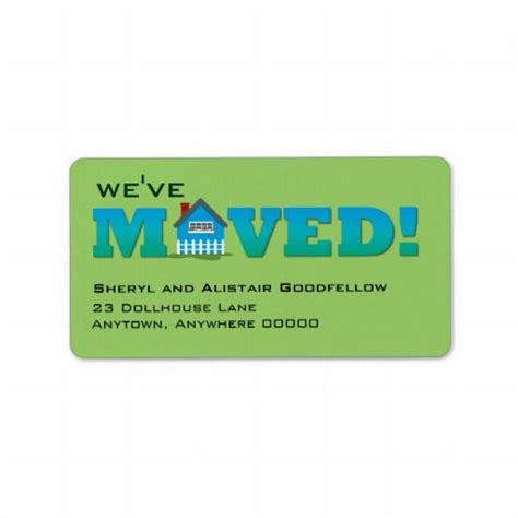 Label We 2 by 17 Best Images About We Moved Address Labels On