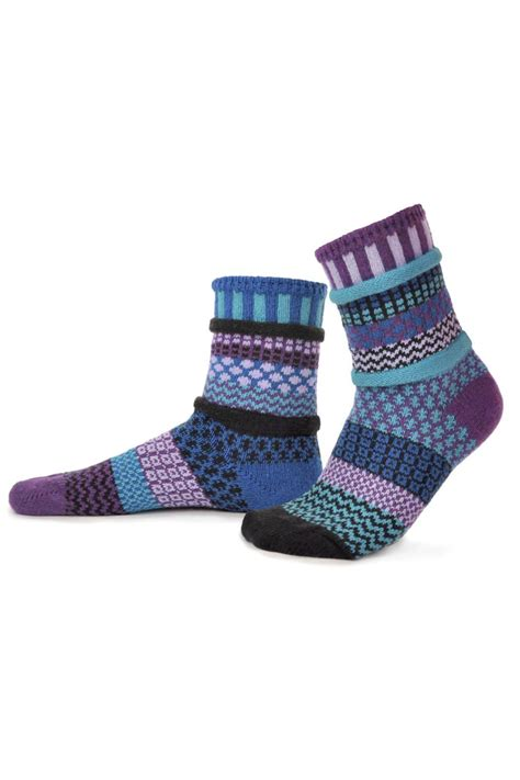 solmate socks mismatched socks raspberry from cleveland by