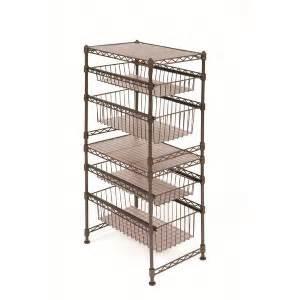 3tier steel wire rack sliding drawer shelf kitchen cabinet