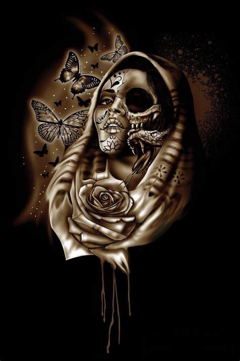 imagenes calaveras aztecas chicano catrinas pinterest dia de las muertos