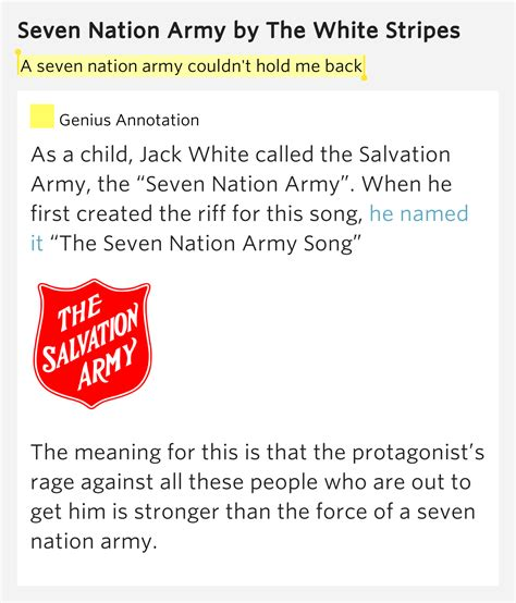 seven tattoo nation lyrics a seven nation army couldn t hold me back seven nation