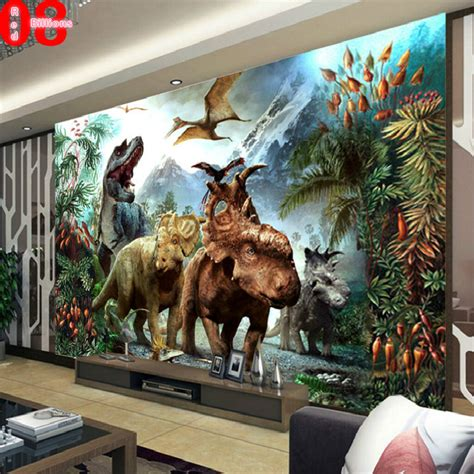 dinosaur home decor mural wallpaper tv background eco friendly the wall paper child room home decor dinosaur