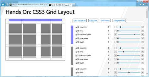 grid layout css3 html5 введение в css3 grid layout работаем с сетками