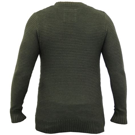 Sweater Brave mens jumper brave soul knitted sweater pullover top waffle casual winter new ebay