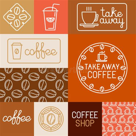 design elements of a coffee shop vector set of design elements for coffee houses and shops