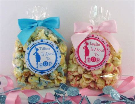 Popcorn Baby Shower Favors by 12 About To Pop Personalized Baby Shower Popcorn Favors