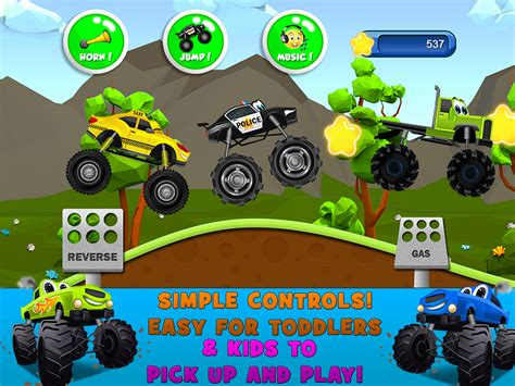 monster truck video games for kids monster trucks game for kids 2 android apps on google play