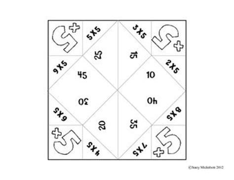 multiplication fortune teller template cootie catcher multiplication set catcher and