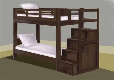 step by step how to draw a bunk bed drawingtutorials101