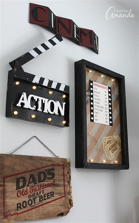 movie themed home decor movie theater family room makeover