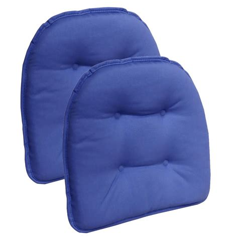 non tufted chair cushions gripper non slip 15 in x 16 in twill blue summer tufted