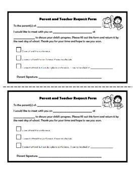parent meeting report template parent conference request form 4th grade
