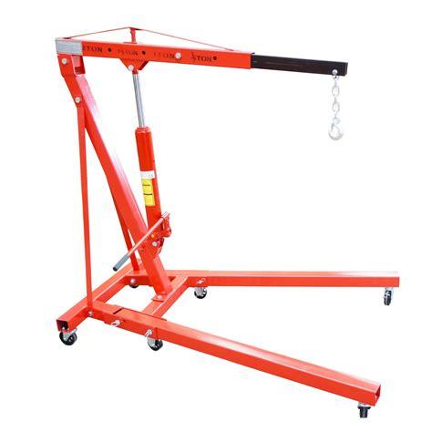 Engine Crane 2 Ton Limited foxhunter 2 ton hydraulic folding engine crane stand hoist lift wheel ebay