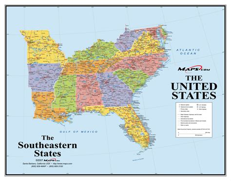 southeast us map major cities thempfa org map of south east coast of us thempfa org
