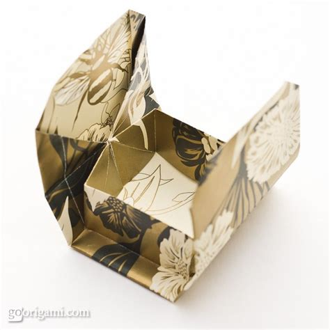 Single Sheet Origami - boxinabox origami box by akiko yamanashi go origami