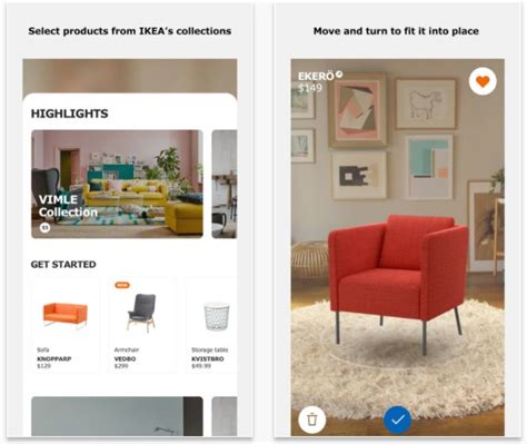home furniture design app ikea place augmented reality furniture placement app now