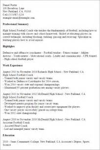 professional high school football coach templates to