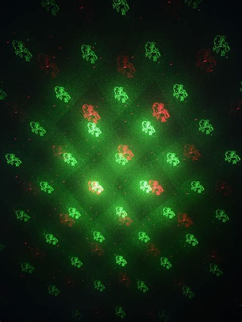 Christmas Pattern Laser | multi point red green christmas pattern garden laser