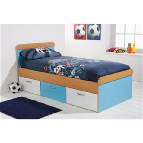 boy bed frames mountrose athena boys single bed frame in blue and white