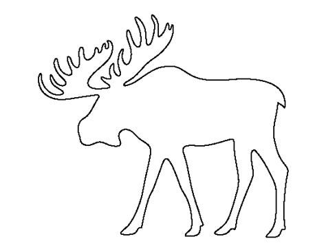 Moose Cut Out Template Moose Pattern Use The Printable Outline For Crafts Creating Stencils Scrapbooking And More