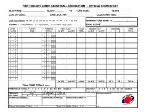 Basketball Score Sheet Excel Template by Other Template Category Page 1380 Sawyoo Com