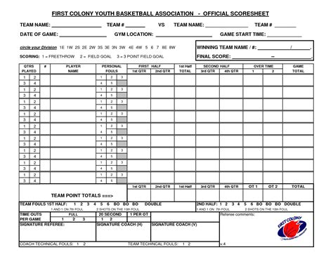 search results for sle stat sheet for basketball