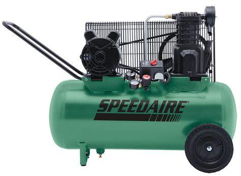 speedaire portable electric air compressor 2 0 hp 52ym09 52ym09 grainger
