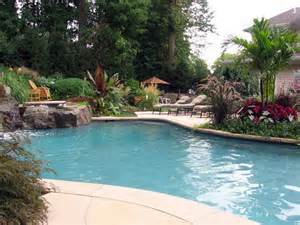Small Backyard Ideas With Pool Pics Photos Small Backyard Pools Pool Landscaping Ideas