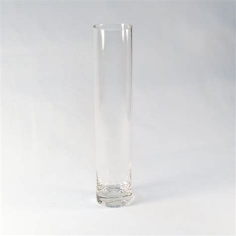 10 quot cylinder bud vase clear glass great for wedding